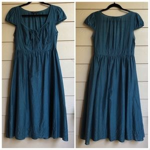 Banana Republic Tea Length Dress; 6